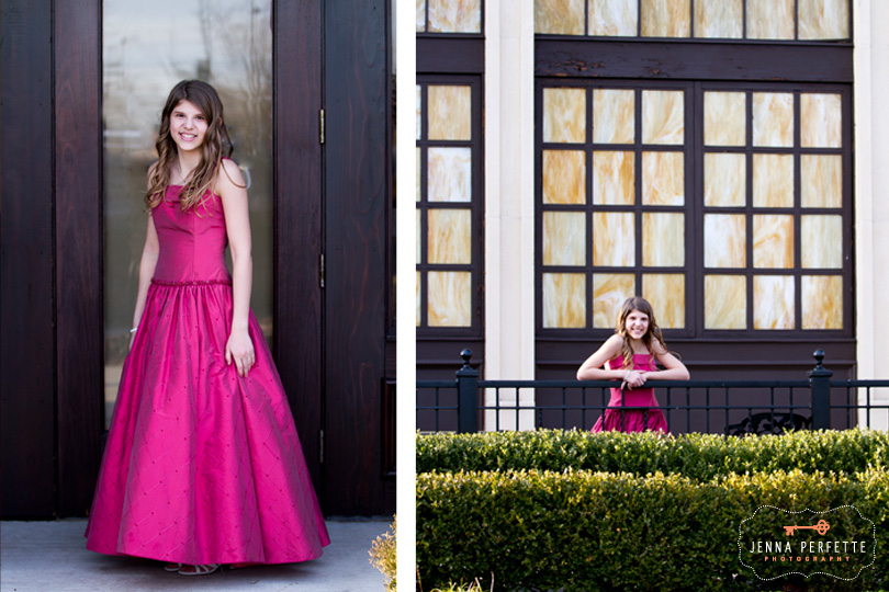 Temple Beth-el Hillsborough, NJ Bat Mitzvah Bridgewater New Jersey full length gown portraits of guest of honor