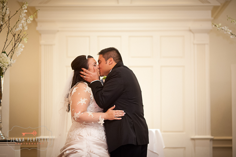you may now kiss the bride somerville wedding photographer - meadow wood manor nj wedding