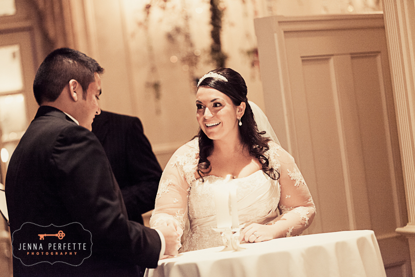 lighting unity candle central nj somerville wedding photographer - meadow wood manor nj wedding