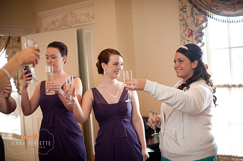 toast to the bride somerville wedding photographer - meadow wood manor nj wedding