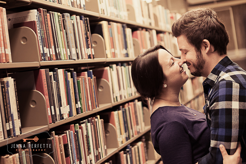 modern fun engagement pictures nj library