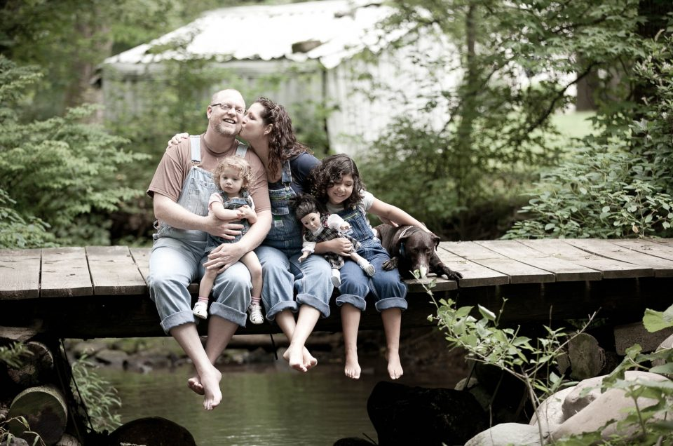 Backyard Family Photo session
