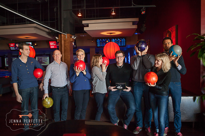 NYC Family Photo Session - Fun Candid winter lifestyle bowling photographer