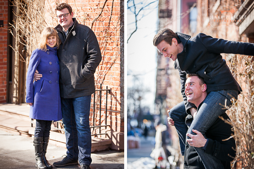 NYC Family Photo Session - Fun Candid winter lifestyle photographer