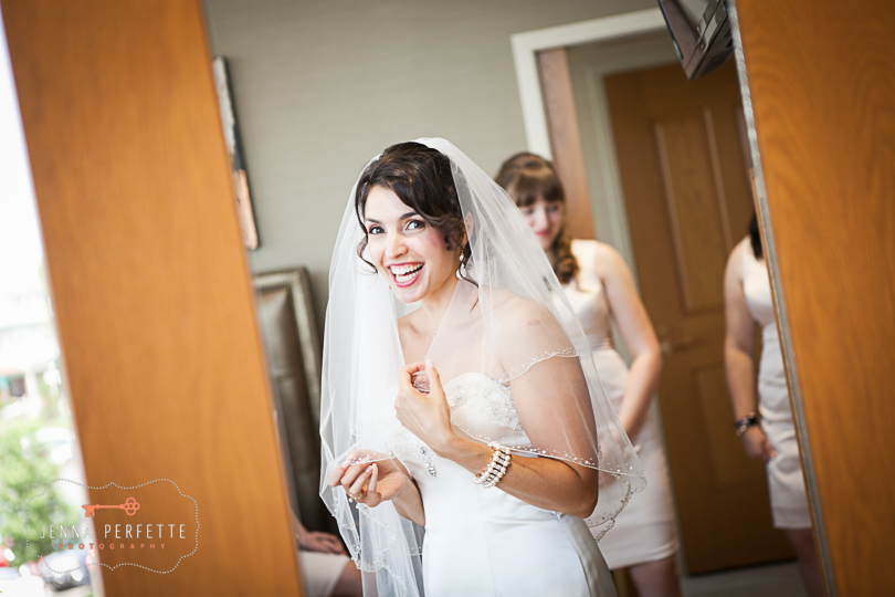 When you ask your bride if she's ready to get married, this is the reaction you get