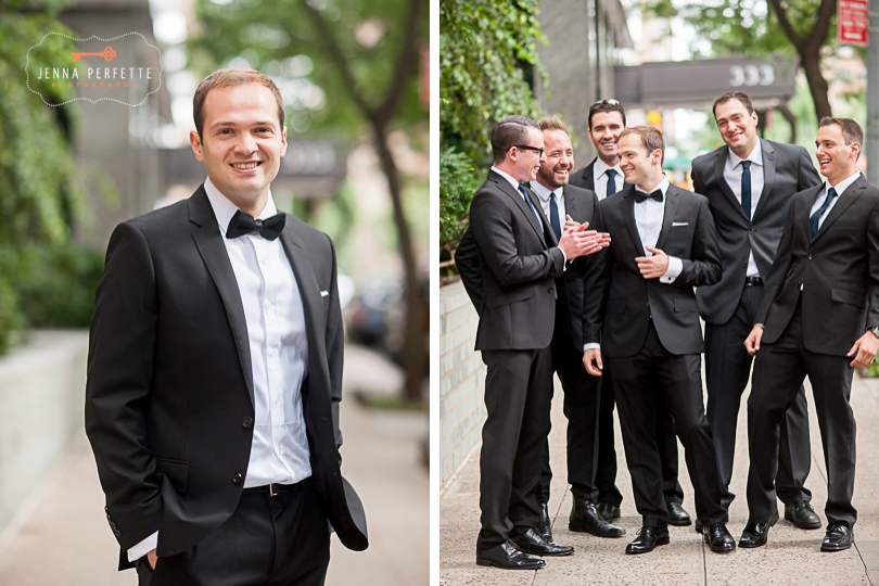 brooklyn botanical gardens wedding - groomsmen support nj wedding photographer