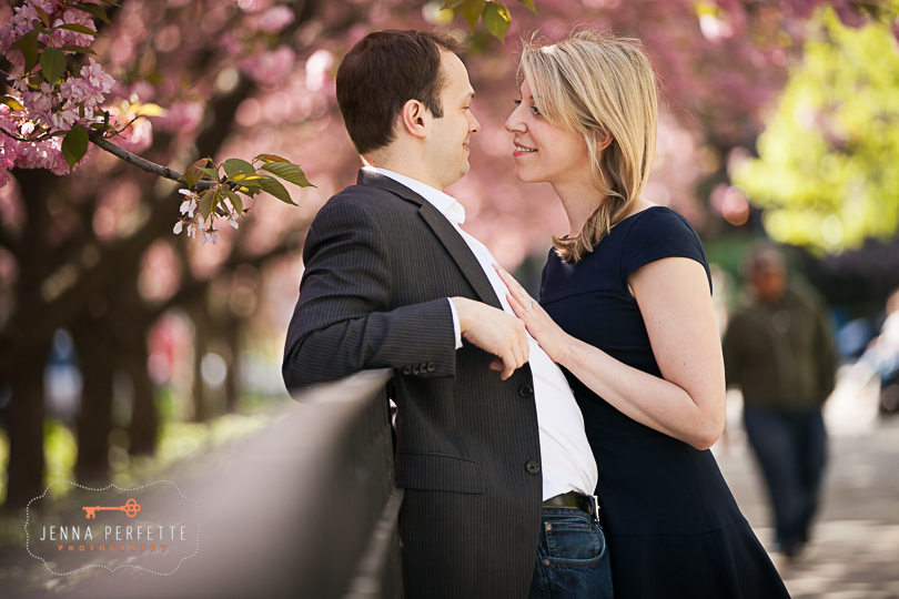 nj outdoor engagement photographer pictures - nyc manhattan park engagement session photography spring