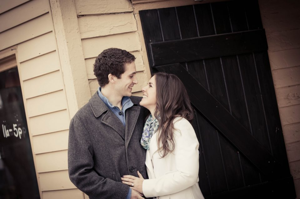 Peddlers Village Engagement Session – Erin & Joel