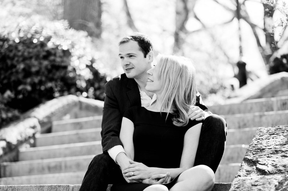 Chris & Sarah – New York City Park Engagement Session in Spring