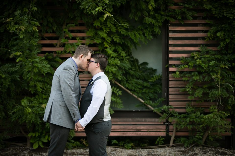 LGBT friendly wedding photographer morris museum wedding