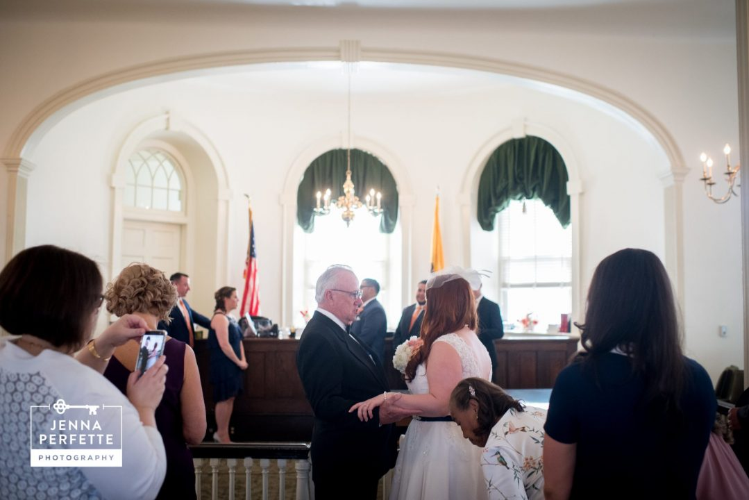 New jersey courthouse wedding ceremony photography