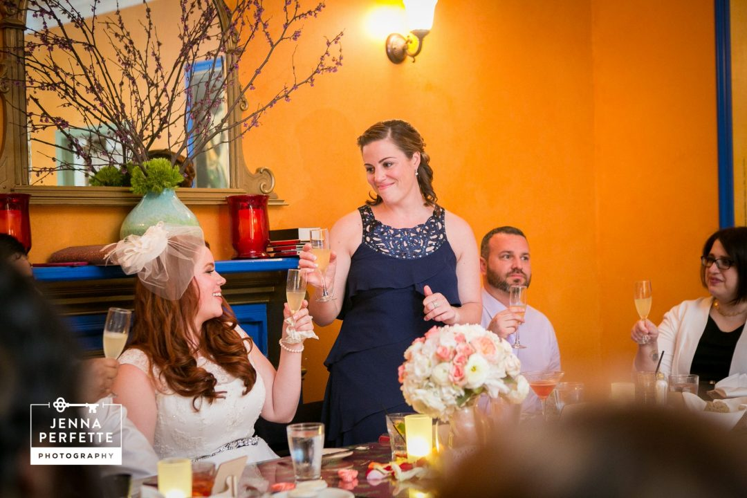 New jersey courthouse intimate wedding reception photography