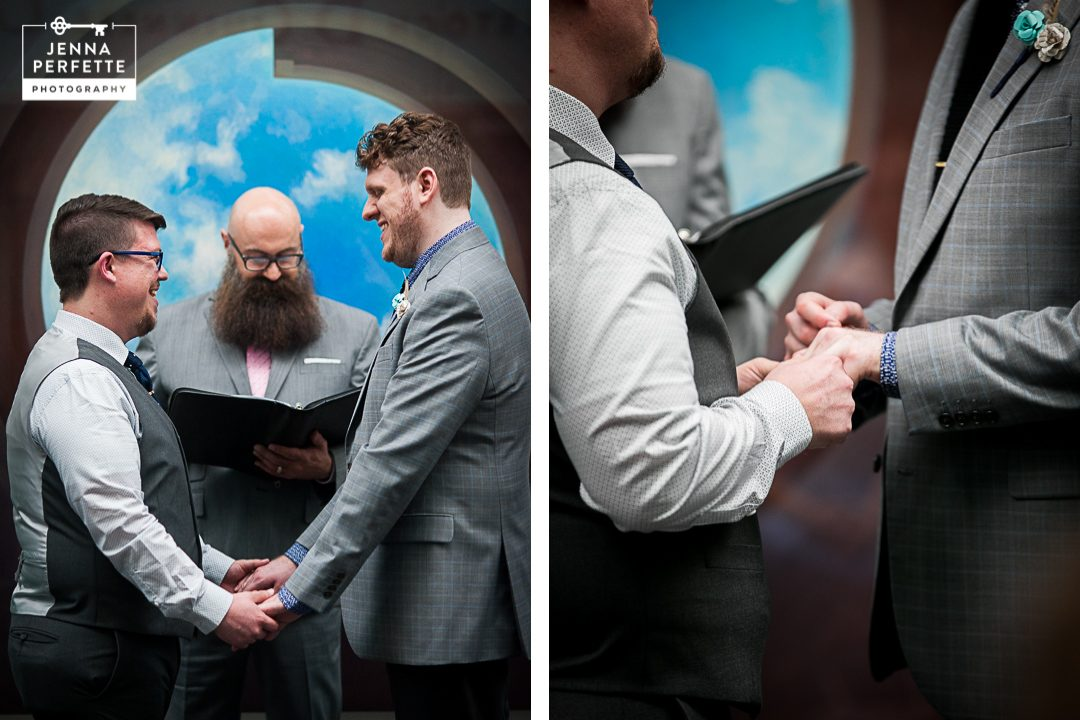 Morris Museum Wedding ceremony in morristown