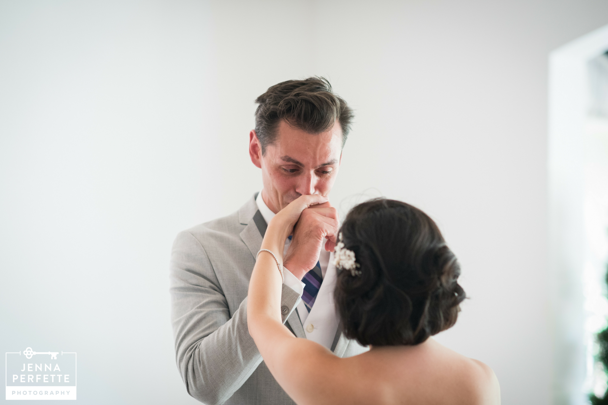 Amazing Emotional First Look wedding photography at Lambertville Station Inn