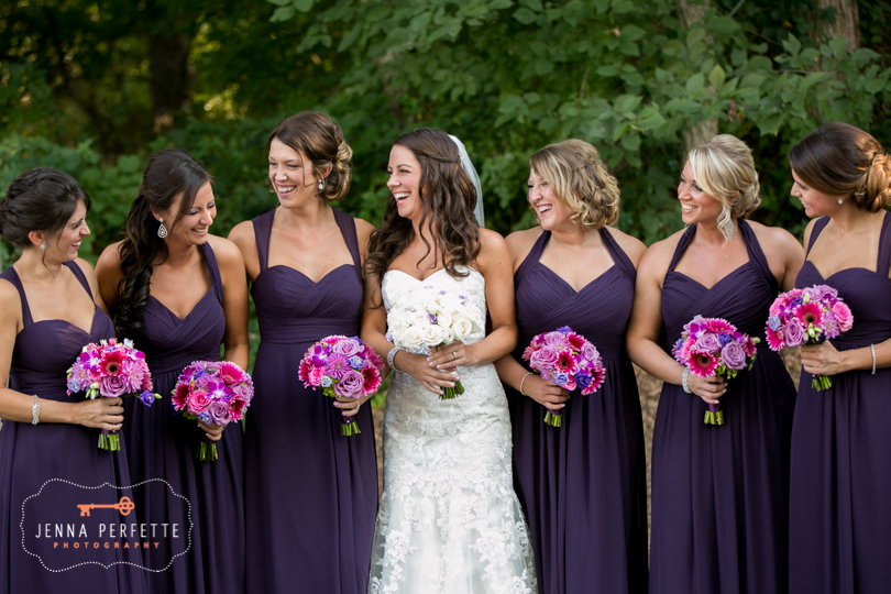 Classic Olde Mill inn wedding photography in basking ridge nj bridal party