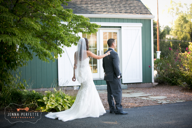Classic Olde Mill inn wedding photography in basking ridge nj first look
