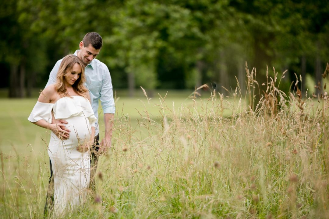 far hills maternity session outdoor glam garden