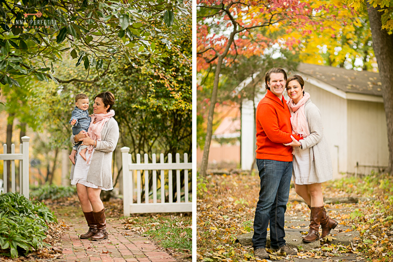 Family Photography Session in Autumn Central New Jersey