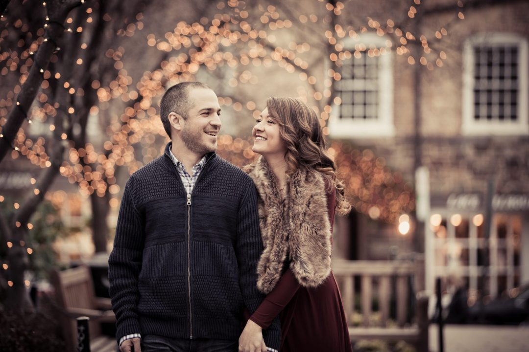 Princeton Engagement Photography Christmas Winter Themed Shoot