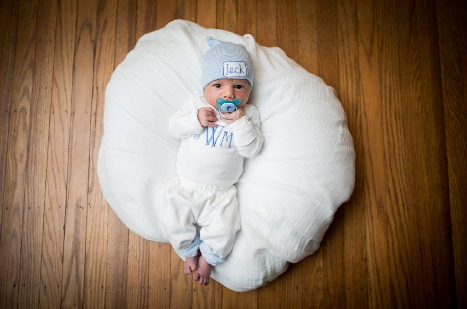 Welcoming Baby Jack with Newborn family photo sesssion