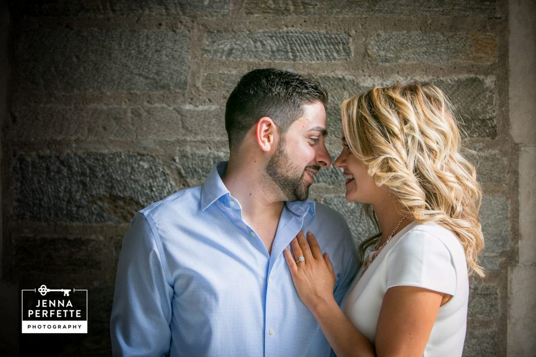 downtown princeton engagement session in spring photos new jersey