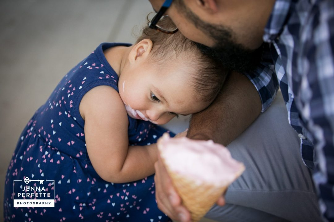 summer first birthday photos family session new jersey