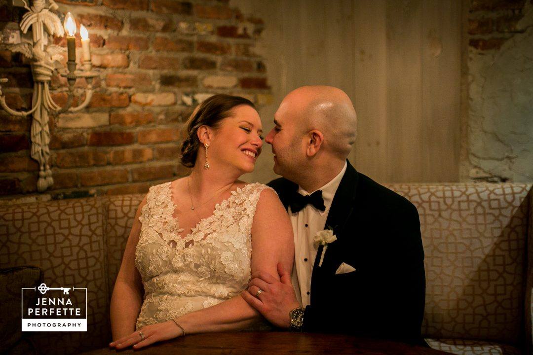 wine cellar portrait wedding