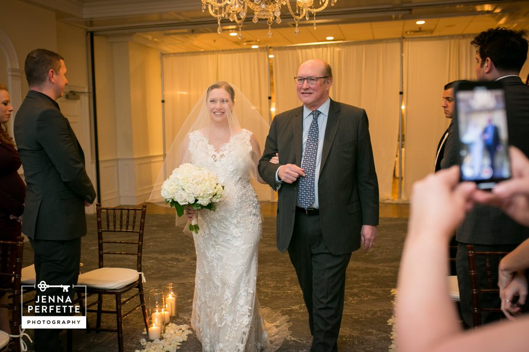 father daughter walk down aisle wedding nj