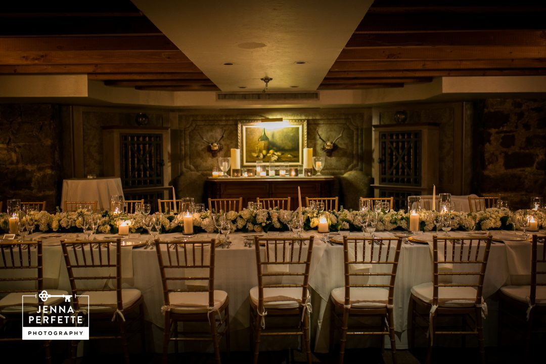 intimate wedding table scape nj