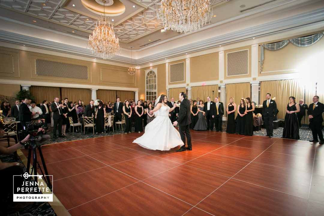 First Dance, Jewish Wedding, Winter Wedding, The Palace, Somerset NJ