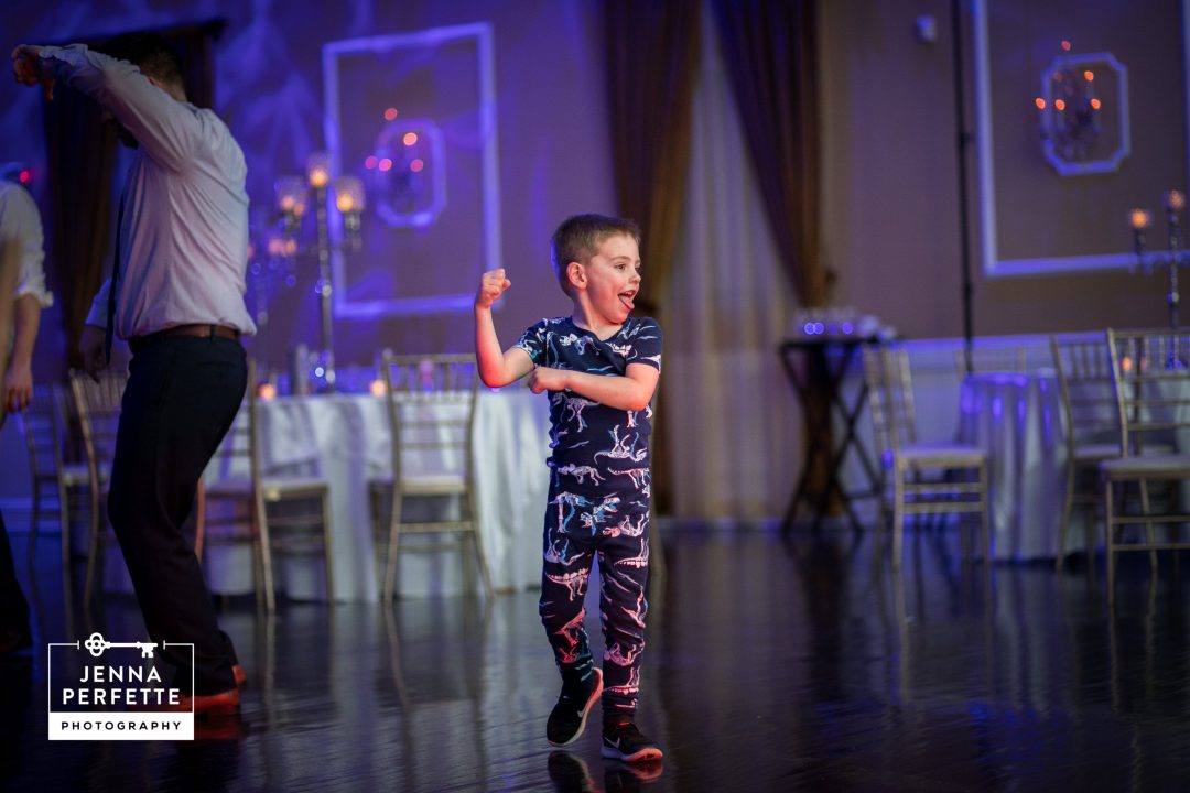 Boy Dancing in his Pajamas