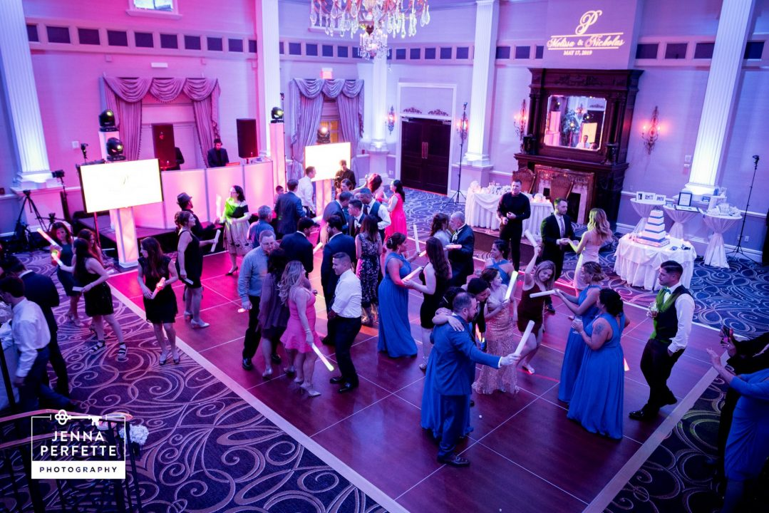 Wedding Party Dancing at Reception