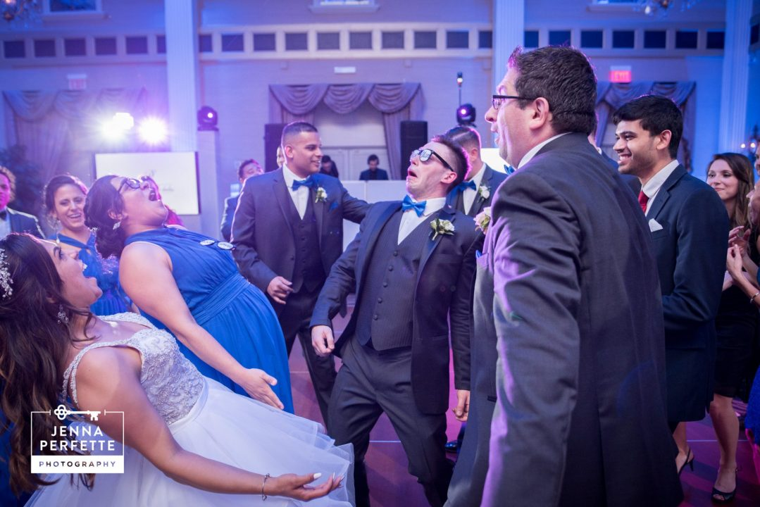 Bride Dancing With Wedding Party