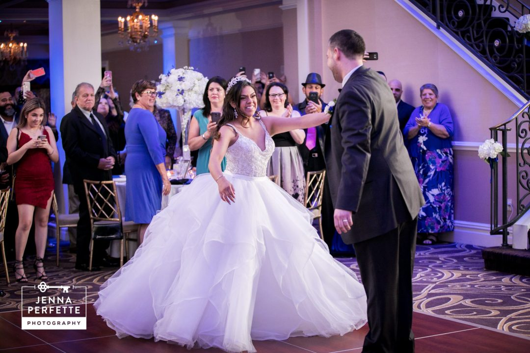 Bride and Groom First Dance A Refreshing Spring Wedding at The Palace