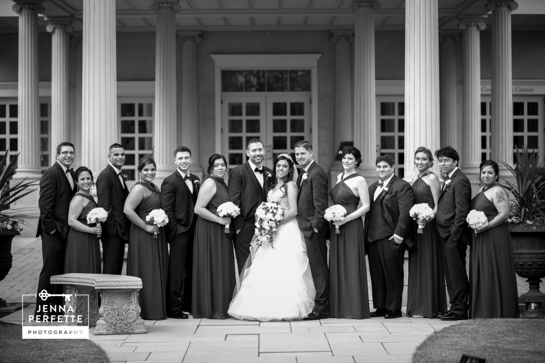 Black and White Wedding Party