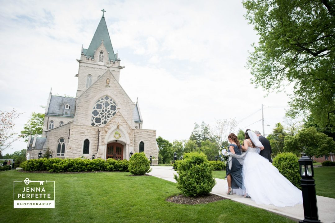 Parents Walking Bride Into Church