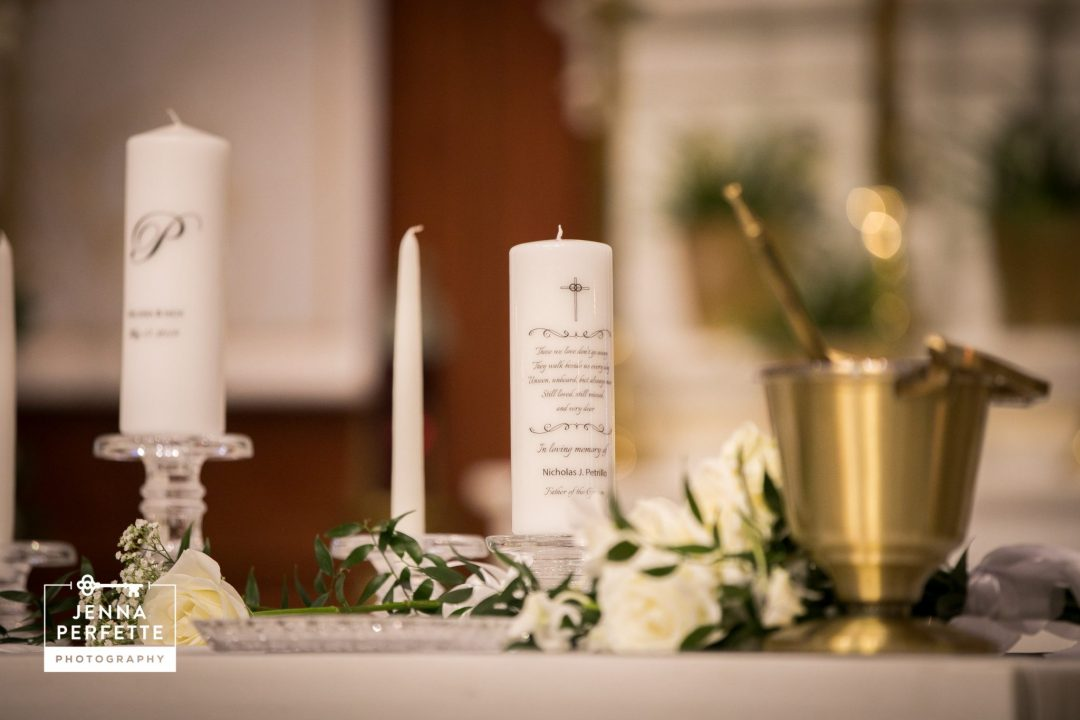 Memorial Candle for Groom's Late Father