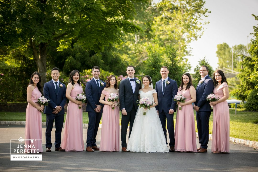 Bride and Groom With Wedding Party