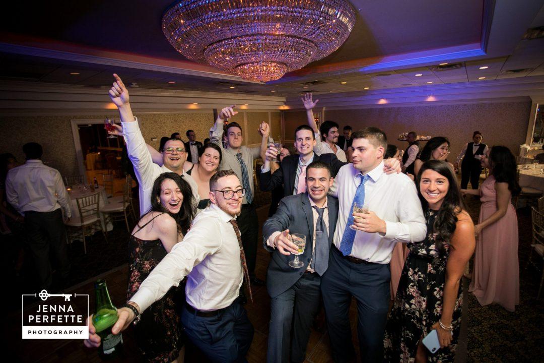 Wedding Guests Posing on Dance Floor