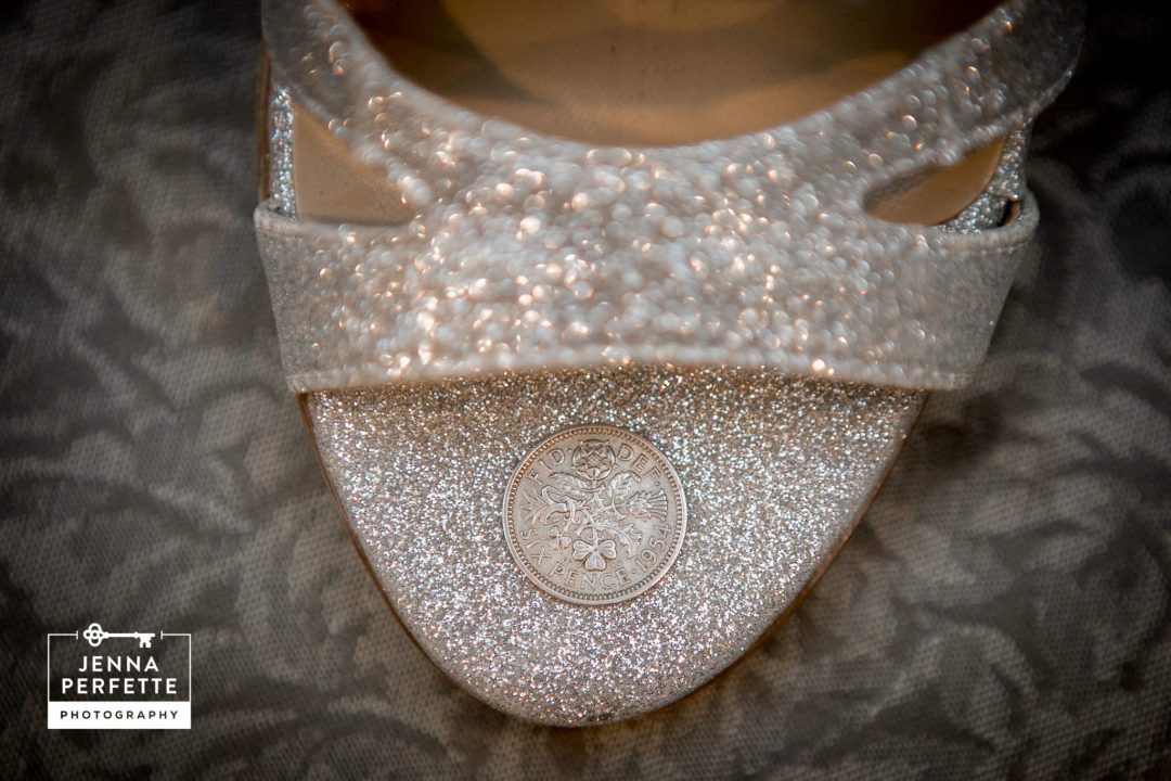 A Sixpence Coin In Wedding Heel
