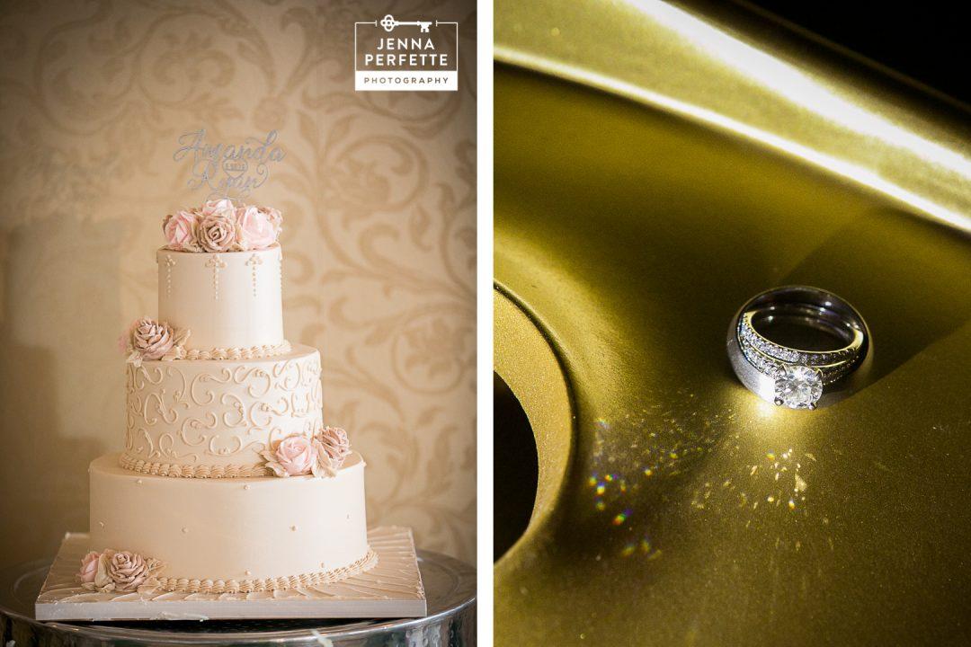 Wedding Cake and Wedding Rings
