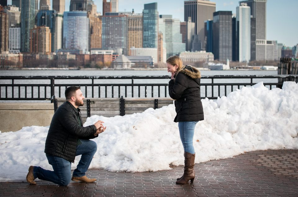 NYC Skyline Winter Proposal – Jordan & Amanda