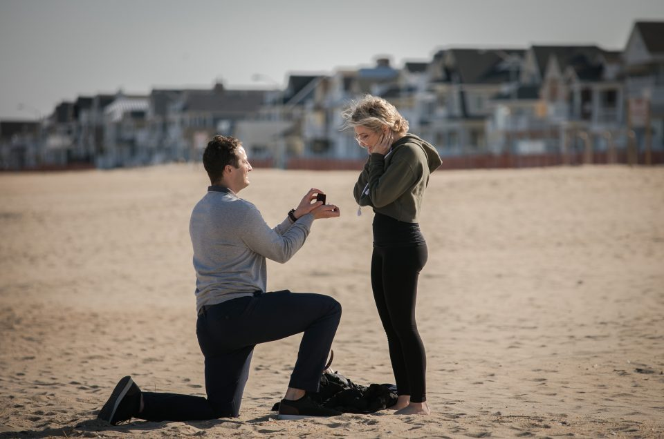 Spring Proposal on the Beach – Andrew & Gina